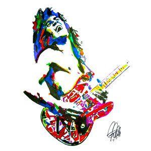 Eddie Van Halen Guitar Music Poster Print 18x24